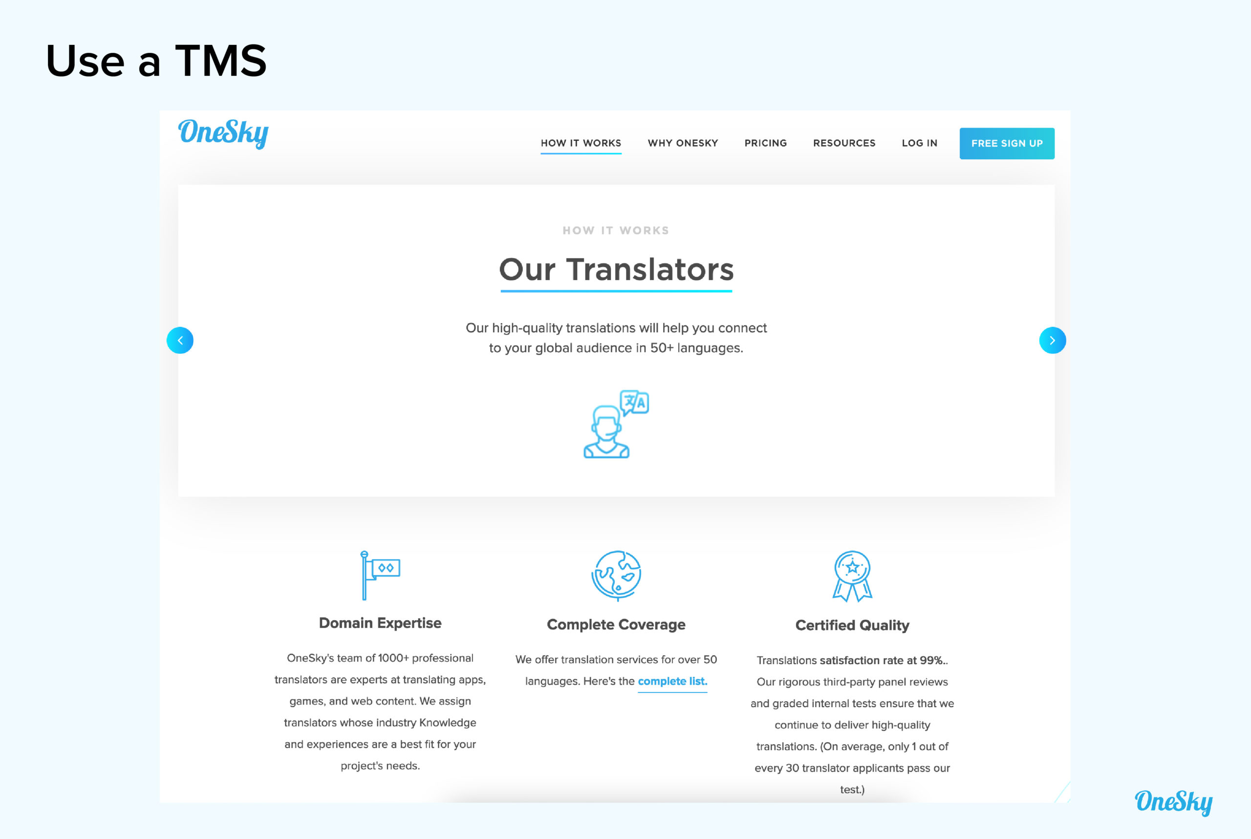Using a TMS (Translation Management System)