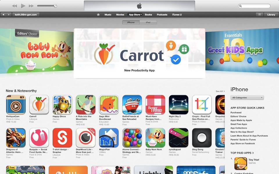 App featured on iTunes after localization