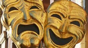 comedy/tragedy mask- friend or foe