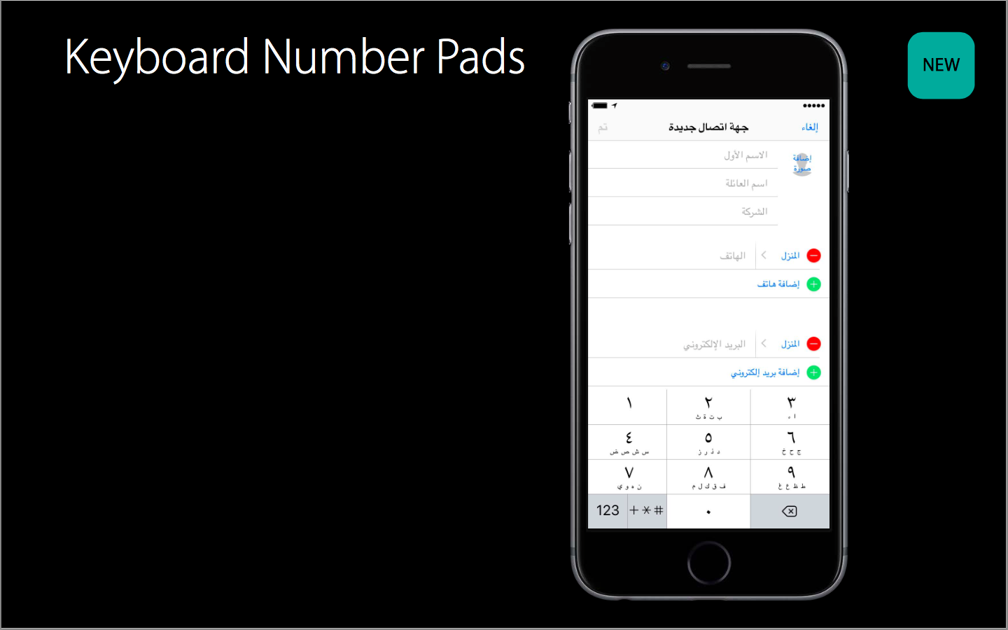1. Multilingual keyboards and a new number pad2