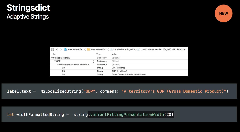 adaptive strings xcode 9