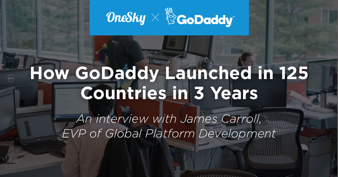 godaddy onesky cover launch 125 countries 3 years