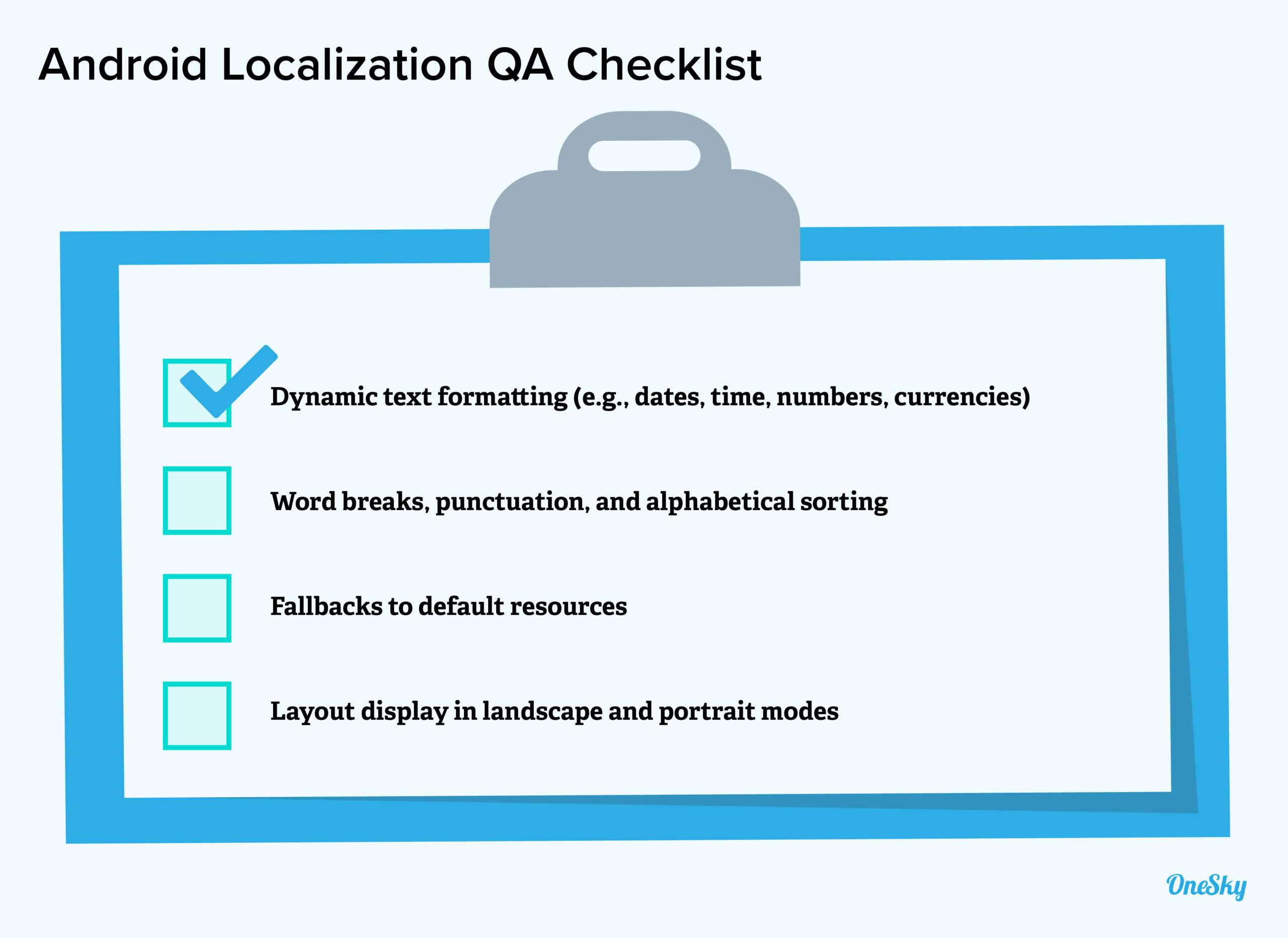 android localization qa checklist